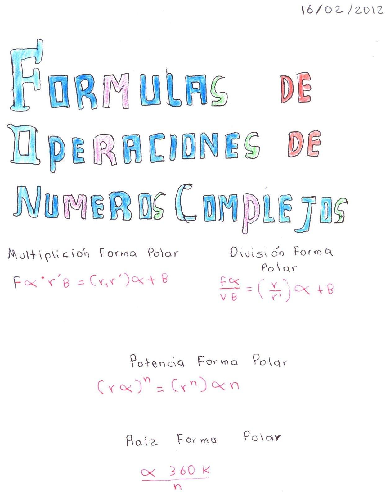 algebra lineal: EJERCICIOS DE NUMEROS COMPLEJOS EN LA ...
