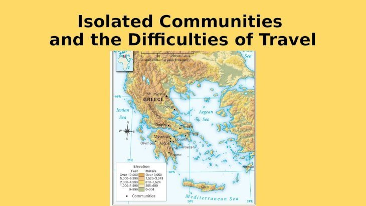 Chapter 25 Geography and the Settlement of Greece