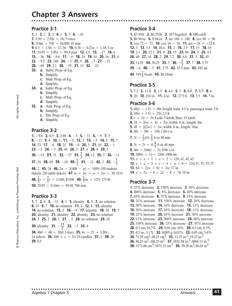 Chapter 3 Answers Practice 3