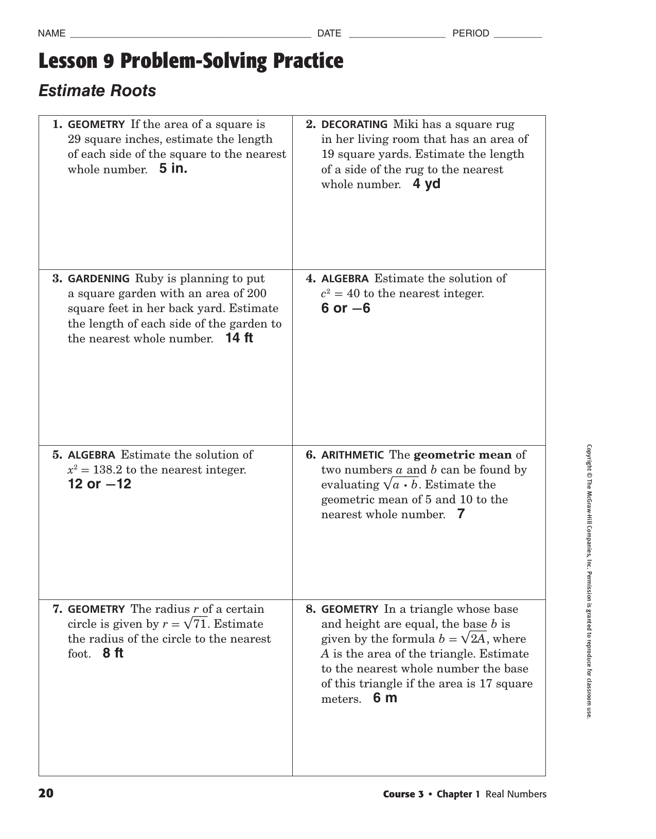 Lesson 3 Problem Solving Practice Write Two Step Equations ...