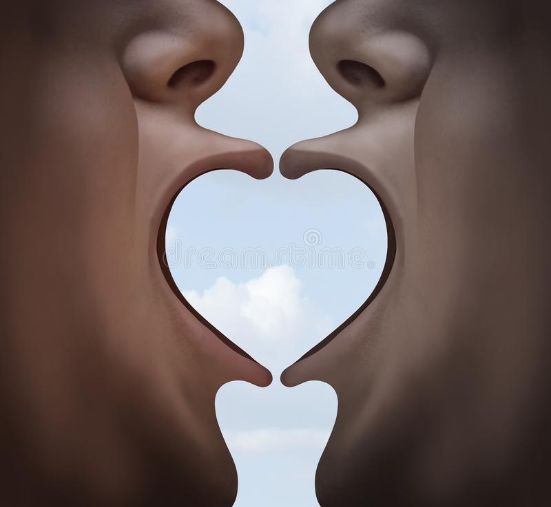 love psychology emotional connection stock illustration