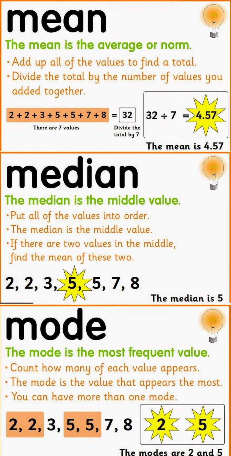 matematicas statistics grade 3 mean median mode and