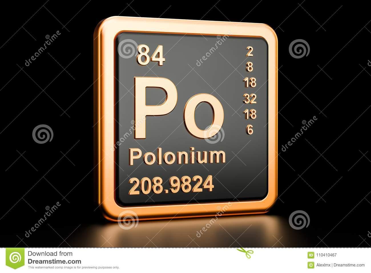 Polonium Po Chemical Element. 3D Rendering Stock ...