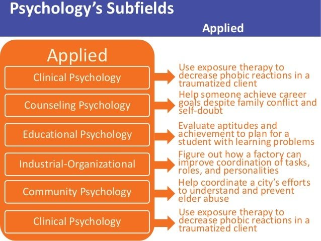 ð? Subfields of psychology and examples. Learn About the ...